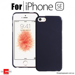 Soft Gel TPU Protective Case Cover for iPhone SE Black Colour