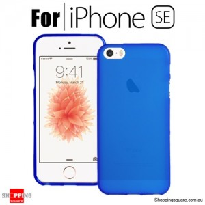Soft Gel TPU Protective Case Cover for iPhone SE Blue Colour