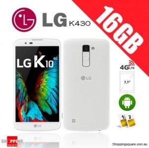 LG K10 Dual Sim K430 16GB 4G Unlocked Smartphone White
