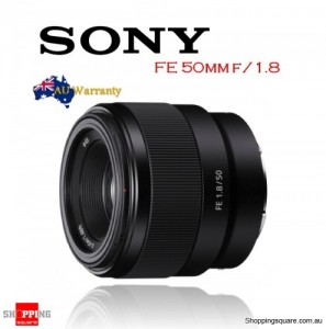 Sony FE 50mm F1.8 E-Mount Camera Lens Black SEL50F18F