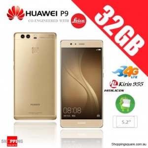 Huawei P9 32GB 4G LTE EVA-L19 Dual Sim Unlocked Smart Phone Prestige Gold