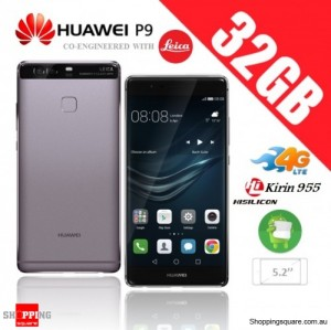 Huawei P9 32GB 4G LTE EVA-L19 Dual Sim Unlocked Smart Phone Titanium Gray