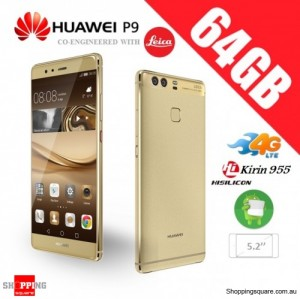 Huawei P9 64GB 4G LTE Unlocked Smart Phone Haze Gold