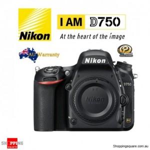 Nikon D750 24.3MP Full Frame WiFi DSLR Camera Body Black