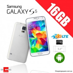 Samsung Galaxy S5 G900F 4G 16GB Unlocked Smart Phone White