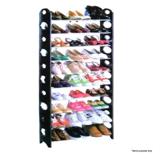 30 Pair Stackable Shoe Rack