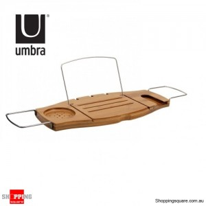 Umbra Aquala Oasis Bamboo Bathtub Caddy by Luciano Lorenzatti