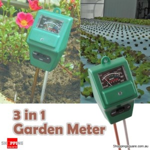 Plant Flowers Soil Moisture pH Light Tester Meter for Garden Hydroponics No Batteries Required