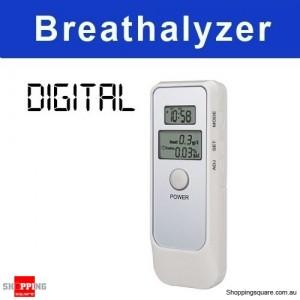 Digital Breath Alcohol Analyzer Tester Breathalyzer with LCD Clock