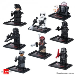 Set of 8 Star Wars The Force Awakens Minifigures Building Blocks Stormtroopers Kylo Ren BB-8 Compatible with LEGO