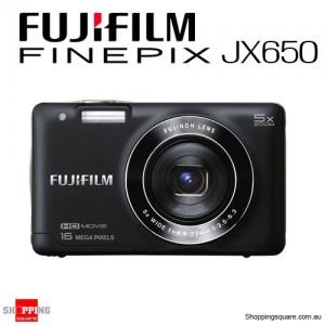 Fujifilm Finepix JX650 Digital Camera with 5x Optical Zoom & 16MP Black Colour