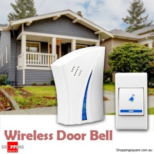 Wireless Door Bell Doorbell Set Digital Remote Control & Receiver with 36 Chimes Melody