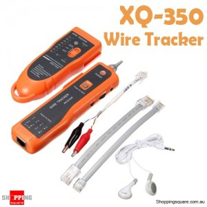 XQ - 350 Network Line Scanner Tester Tracker for RJ45 RJ11 Cat6 LAN Ethernet Phone Telephone Cable Wire