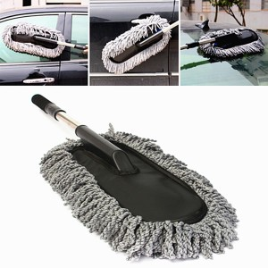 Microfiber Telescoping Car Dusting Wax Tool Cleaning Brush Duster
