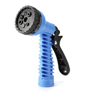 Adjustable Car Garden Water Nozzle Head Syringe Grip Sprayer Blue Colour