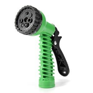 Adjustable Car Garden Water Nozzle Head Syringe Grip Sprayer Green Colour