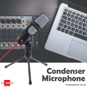 Professional Condenser Microphone Mic for Audio Studio Sound Recording Skype with Shock Mount