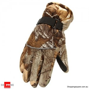 Camouflage Winter Super Warm Gloves for Ski Riding Motorcycle Ourdoor Random Colour