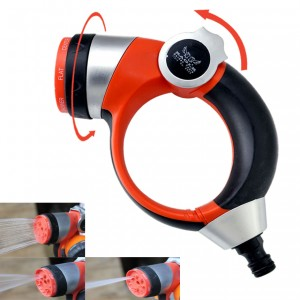 Adjustable High Pressure Hose Nozzle Water Spray With 7 Function For Home & Garden