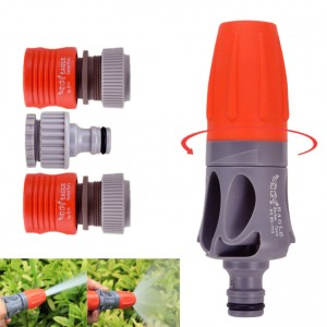 Garden Watering Sprayer with Adjustable TPR Rubber Coating Spray Nozzle