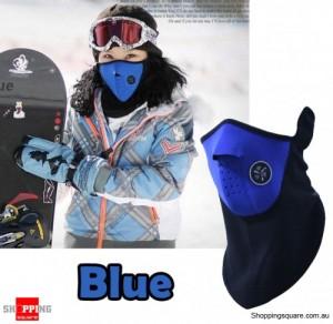 Universal Motorcycle Warm Face Neck Mask for Ski Snowboard Bike Travel Blue Colour