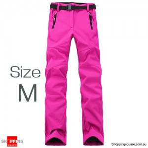 Women's Waterproof Windproof Breathable Hiking Pants Trousers for Snowboard Skiing Hot Pink Colour Size M