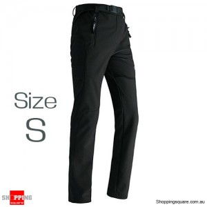 Women's Waterproof Windproof Breathable Hiking Pants Trousers for Snowboard Skiing Black Colour Size S
