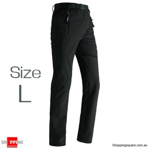 Women's Waterproof Windproof Breathable Hiking Pants Trousers for Snowboard Skiing Black Colour Size L