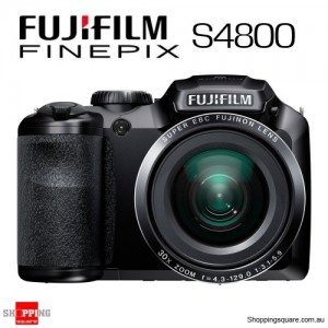 Fujifilm Finepix S4800 Digital Camera 16MP 30x Optical Zoom 3.0 Inch Display