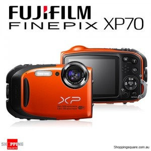 Fujifilm Finepix XP70 Waterproof Camera - Orange