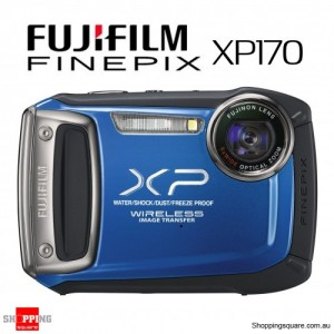Fujifilm Finepix XP170 Waterproof Dustproof Digital Camera - Blue