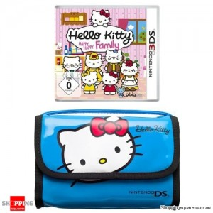 Hello Kitty Happy Happy Family - Game Traveller Pack (Blue Hand Bag) 3DS