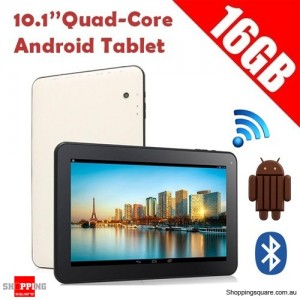 10.1 inch Quad-Core Google Android 4.4 KitKat Tablet PC 16GB Bluetooth WIFI