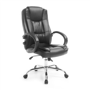 Deluxe PU Leather Office Computer Chair Lumbar Support Home Gaming Chair