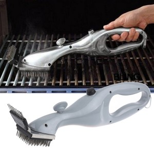 Stainless Steel BBQ Handheld Grill Steam Cleaning Brush