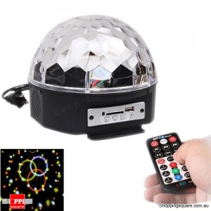 RGB LED MP3 DJ Club Disco Home Party Crystal Magic Ball Effect Light with Remote Control