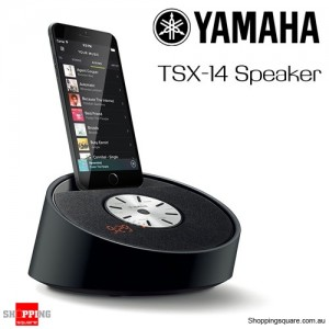 YAMAHA TSX-14 Lifestyle Lightning Dock Alarm Clock FM Radio Speaker for iPhone - Black