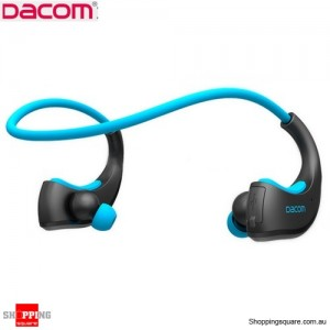 Waterproof DACOM Armor Sport Bluetooth V4.1 Music Wireless Headset IPX5 Blue Colour