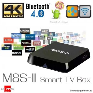 M8S-II 4K Amlogic S905 Quad Core 2G RAM 8G ROM Kodi Smart TV Box Android PC