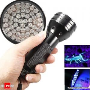 UV Ultra Violet 51 LED 395 nM Aluminum Torch Flashlight