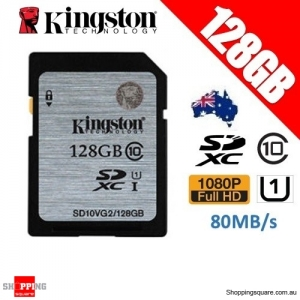 Kingston 128GB SDHC SDXC Class 10 UHS-I SD Card Memory Card 80MB/s (SD10VG2)
