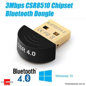 USB Bluetooth 4.0 Mini Dongle Wireless Adapter For Laptop PC Windows Fast 3Mbps Speed