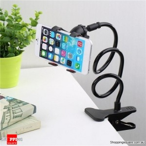 Universal Lazy Bed Desktop Car Stand Mount Holder For Samsung iPhone Black Colour
