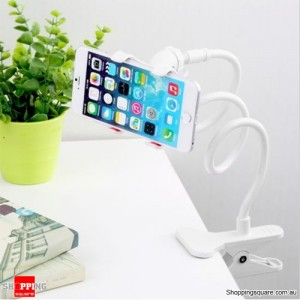 Universal Lazy Bed Desktop Car Stand Mount Holder For Samsung iPhone White Colour