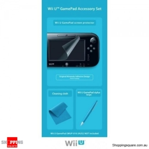GENUINE Wii U GAMEPAD ACCESSORY SET NINTENDO PRODUCT PROTECT YOUR GAMEPAD