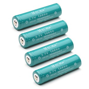 4X MECO 4000mAh 3.7V Rechargeable 18650 Li-ion Battery Protected