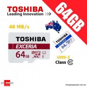 Toshiba Exceria 64GB MicroSD Class 10 UHS-I 48MB/s Micro SD TF Memory Card