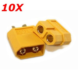 10Pcs XT60 Male and Female Bullet Connectors Plugs Accessories For RC Batteries