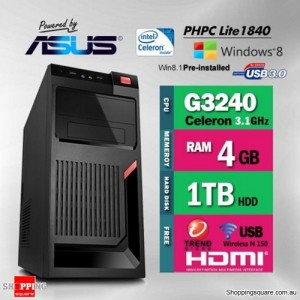 Apus Power PHPC Lite G3260 Desktop PC - PHPC Lite G3260 4GB RAM 1TB HDD with Free Anti-Virus & USB WiFi