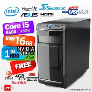 Apus Ultimate Gaming Computer PHPC-6513D3 Desktop PC
